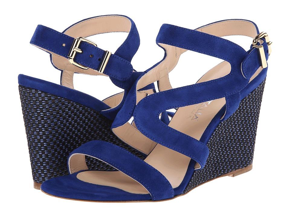 Aquatalia - Surprise (Blue Suede) Women's Wedge Shoes