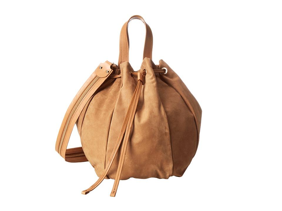Aquatalia - Kibitz (Cuoio Nubuck Combo) Shoulder Handbags
