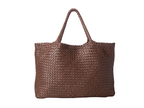 Aquatalia - Walker (Chocolate Woven Calf) Tote Handbags