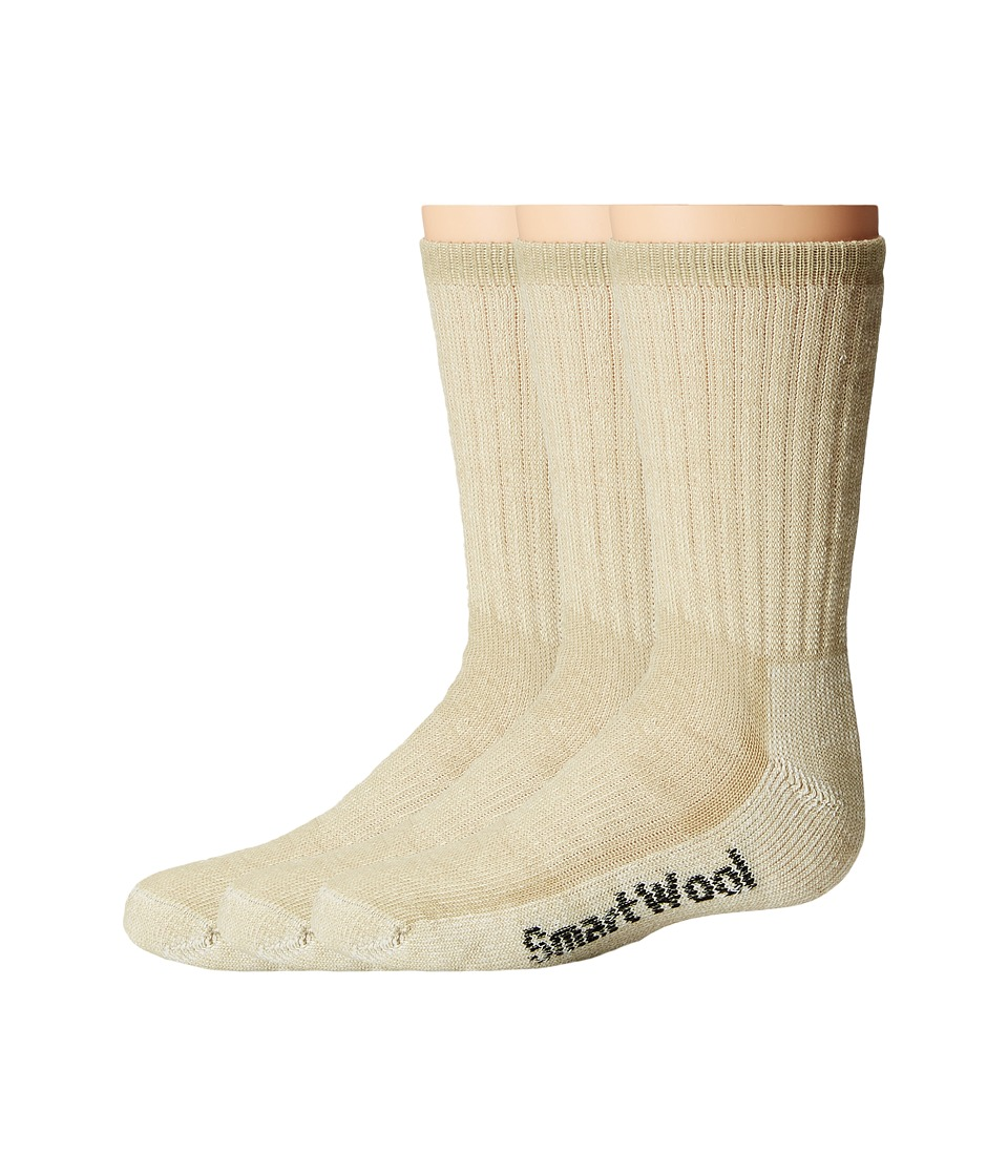 Smartwool - Hike Medium Crew 3-Pack (Toddler/Little Kid/Big Kid) (Oatmeal) Crew Cut Socks Shoes