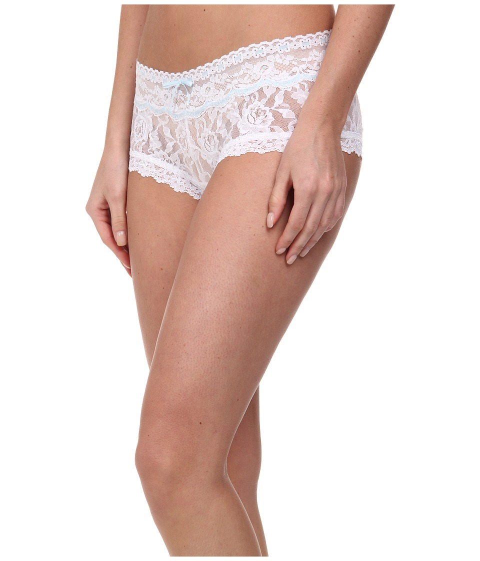 Hanky Panky - Annabelle Boyshort (White/Baby Blue) Women's Underwear