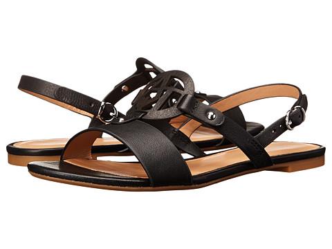 Armani Jeans - Slingback Flat Sandal (Black) Women's Sandals