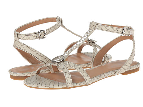 Armani Jeans - Printed T-Strap Sandal (Dark Grey) Women's Sandals