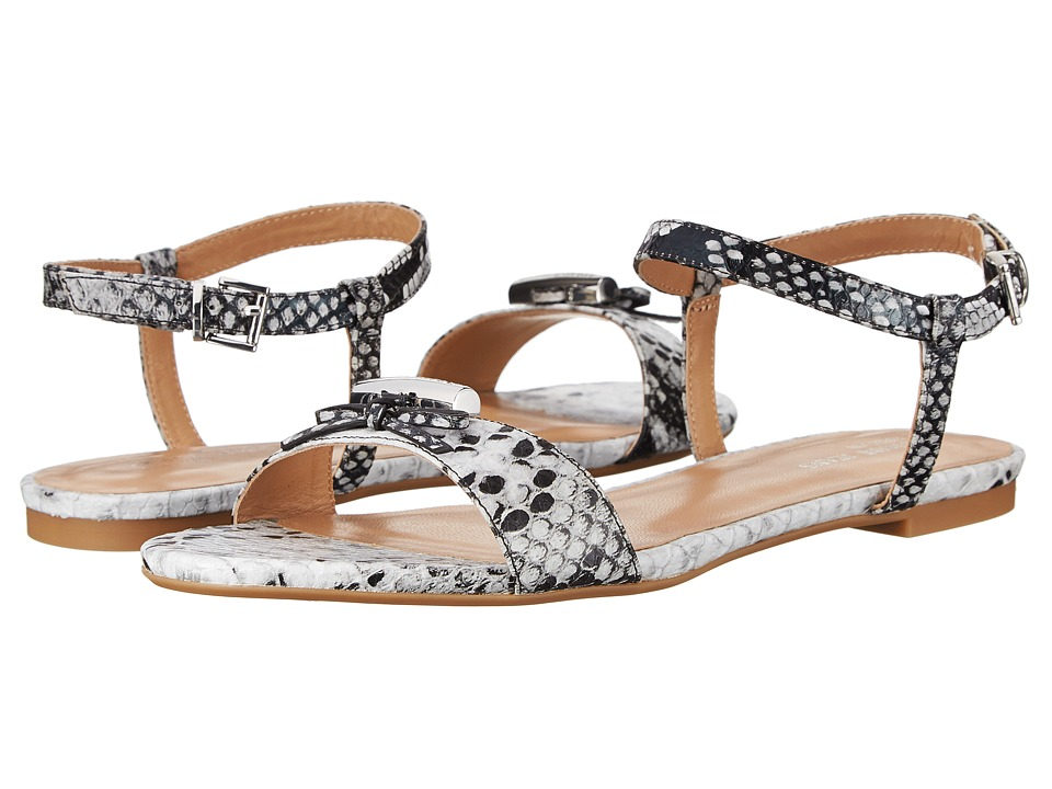Armani Jeans - Snakeprint Ankle Strap Sandal (Pearl) Women's Sandals