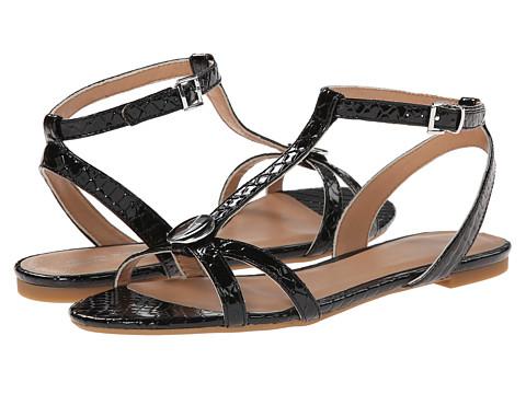 Armani Jeans - Printed T-Strap Sandal (Black) Women's Sandals