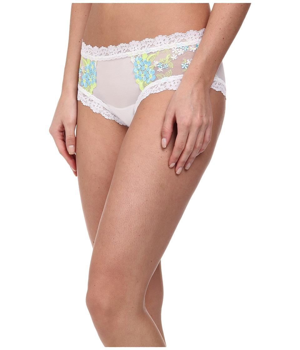 Hanky Panky - Embroidery Boyshort (White/True Blue) Women's Underwear