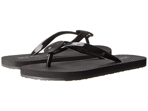 Armani Jeans - Rubber Flip Flop (Black) Women's Sandals