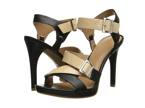 Armani Jeans - Color Block Strappy Heel (Black) High Heels