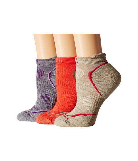 Smartwool - PhD Outdoor Light Micro (Oatmeal) Women's Crew Cut Socks Shoes