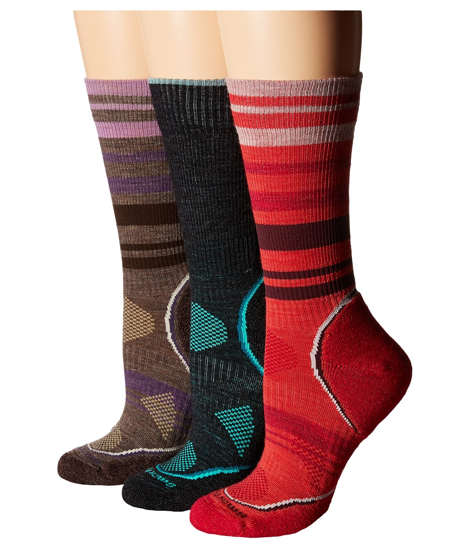 Smartwool - PHD Outdoor Light Crew (Charcoal) Women's Quarter Length Socks Shoes