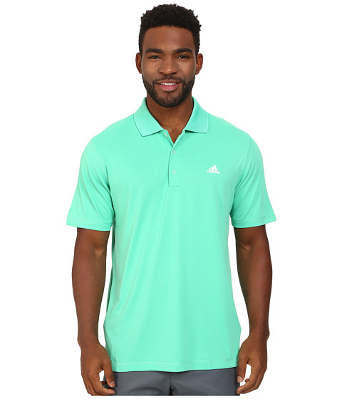 adidas Golf - Solid Jersey Polo w/ Front Logo (Bright Green) Men