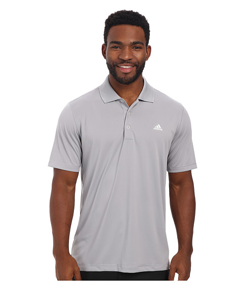 adidas Golf - Solid Jersey Polo w/ Front Logo (Mid Grey) Men's Short Sleeve Knit
