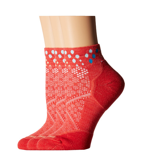 Smartwool - PhD Run Elite Low Cut Pattern (Hibiscus) Women's Low Cut Socks Shoes