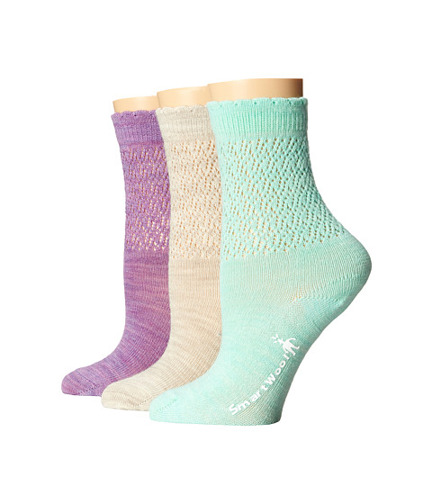 Smartwool - Pointelle Crew 3-Pair Pack (Lilac) Women's Crew Cut Socks Shoes