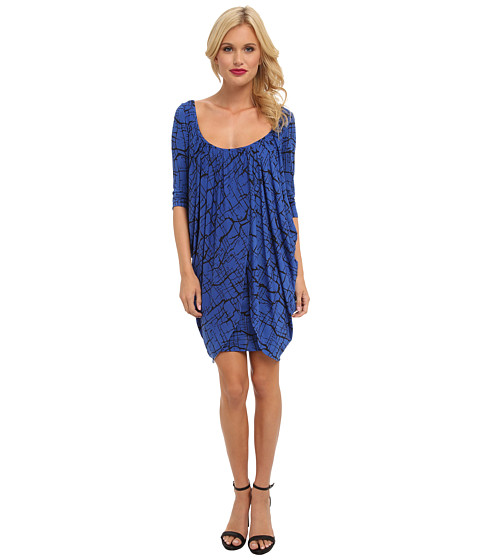Tbags Los Angeles - Drape Overlay Bodycon Dress (Print) Women