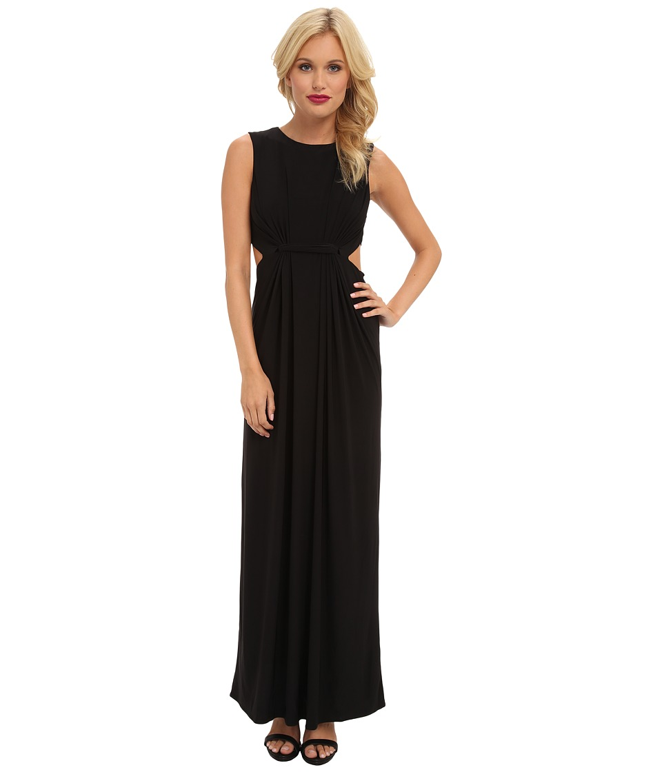 Tbags Los Angeles - Sleeveless Maxi w/ Waist Cutout (Black) Women