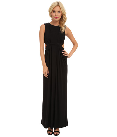 Tbags Los Angeles - Sleeveless Maxi w/ Waist Cutout (Black) Women's Dress