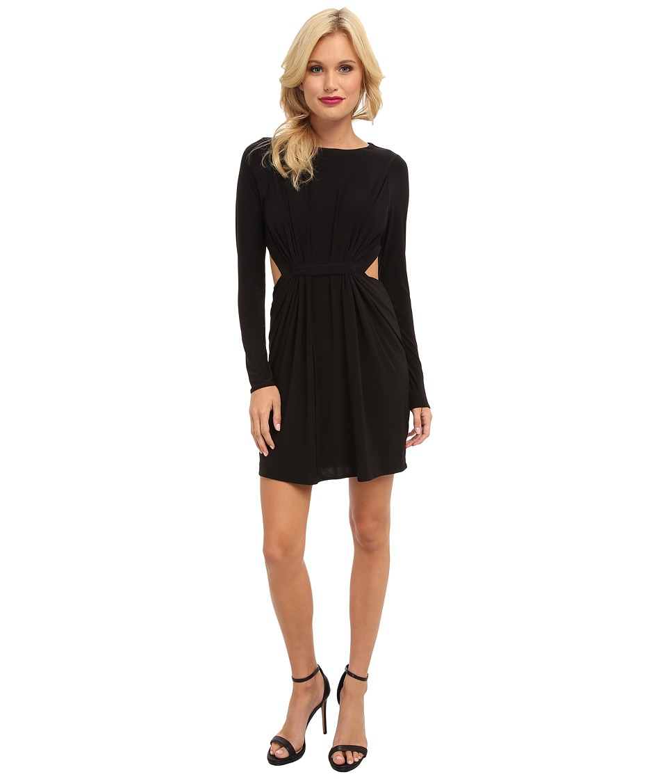 Tbags Los Angeles - Long Sleeve Dress w/ Cutout Side Waist (Black) Women