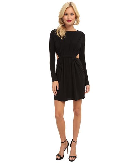 Tbags Los Angeles - Long Sleeve Dress w/ Cutout Side Waist (Black) Women