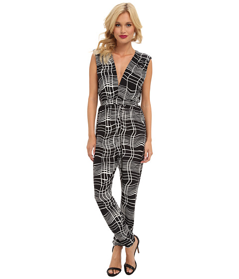 Tbags Los Angeles - Sleeveless Jumpsuit w/ Cutout Back (Print) Women's Jumpsuit & Rompers One Piece