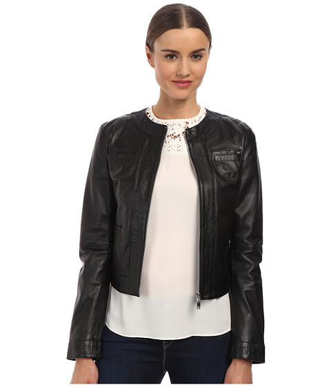 Armani Jeans - Leather Jacket (Black) Women