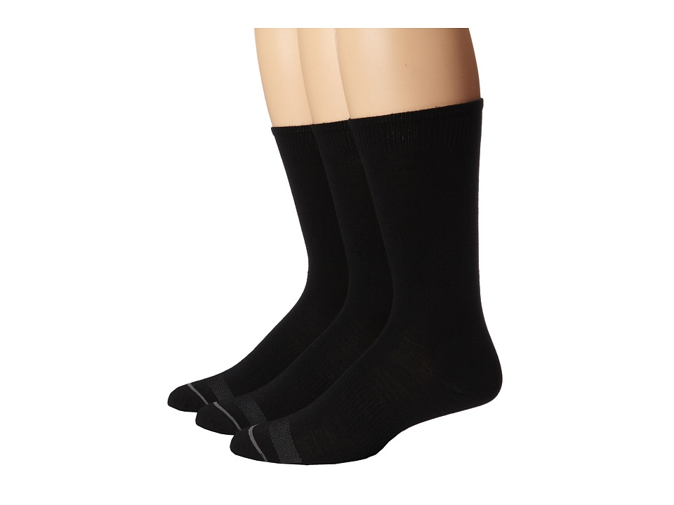 Smartwool - Anchor Line 3-Pair Pack (Black) Men's Crew Cut Socks Shoes