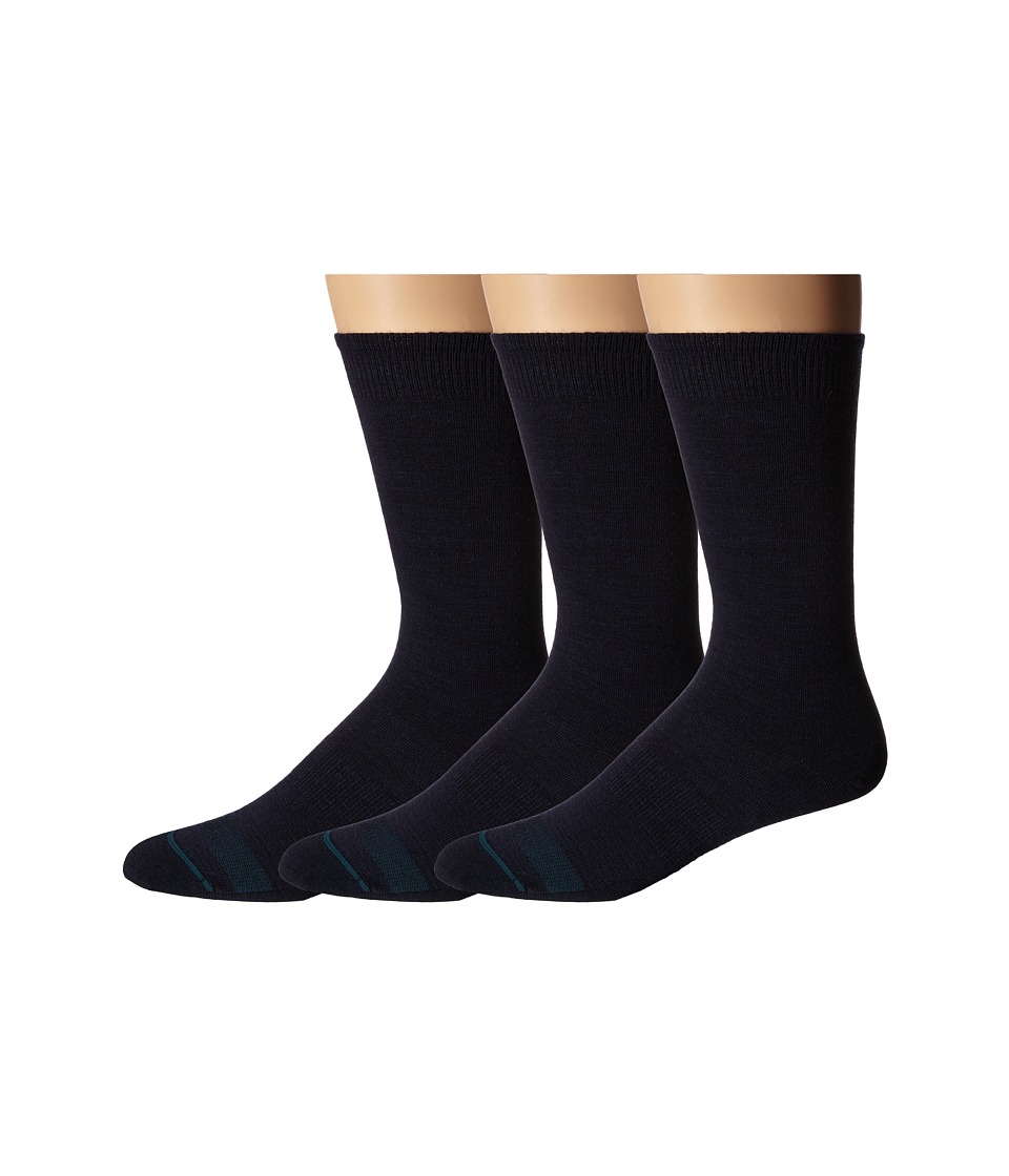 Smartwool - Anchor Line 3-Pair Pack (Navy) Men's Crew Cut Socks Shoes