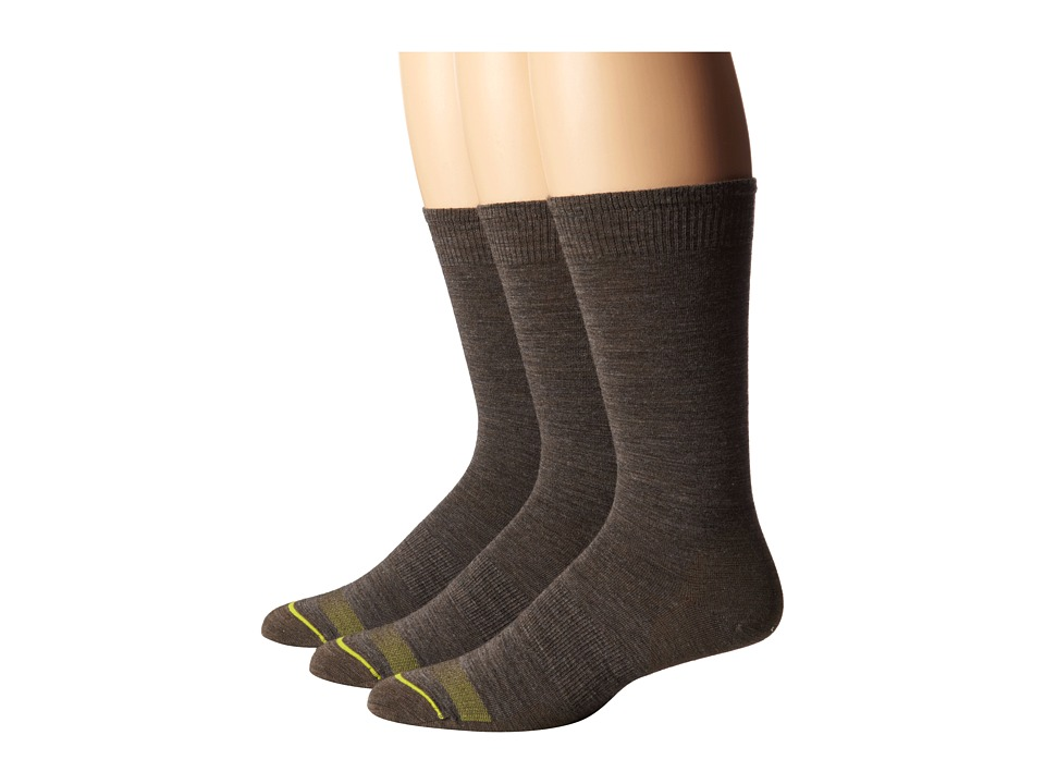 Smartwool - Anchor Line 3-Pair Pack (Taupe) Men's Crew Cut Socks Shoes
