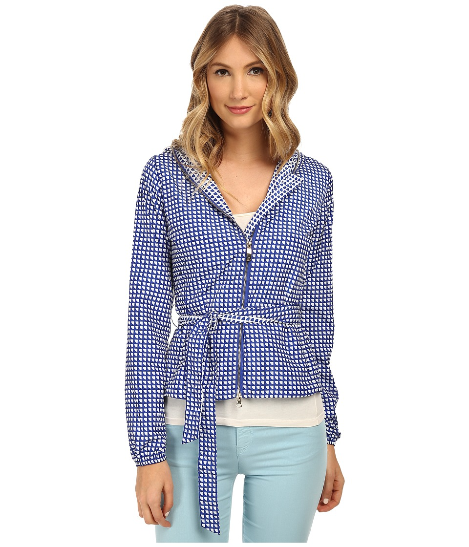 Armani Jeans - Printed Jacket with Hood (Blue) Women