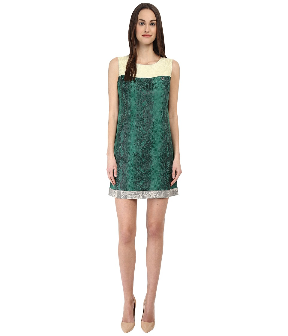 Armani Jeans Eco-Leather Python Shift Dress (Fantasia) Women