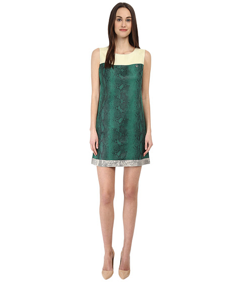 Armani Jeans - Eco-Leather Python Shift Dress (Fantasia) Women's Dress