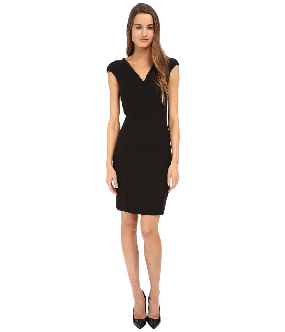 Armani Jeans - Cap Sleeve Sheath Dress (Black) Women's Dress