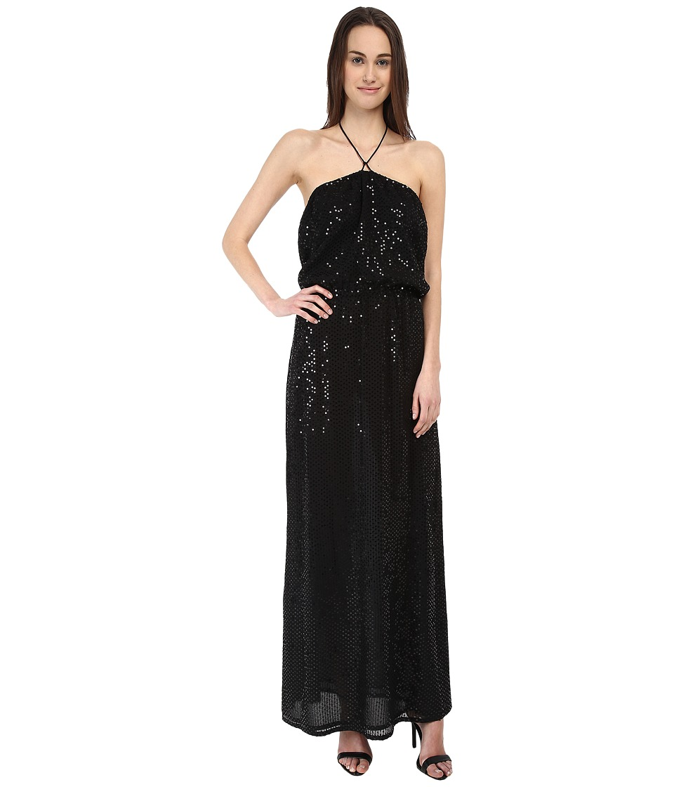 Armani Jeans Sequin Maxi Dress (Black) Women