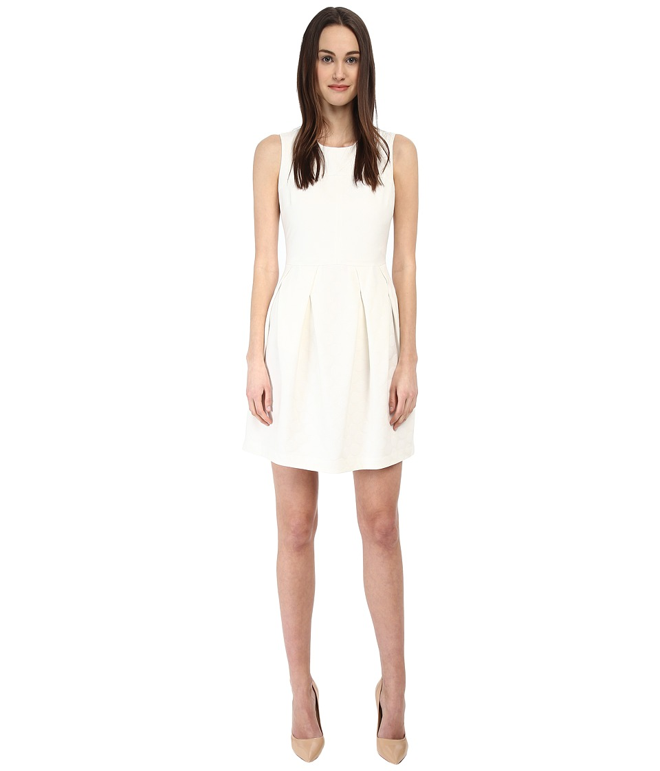Armani Jeans Jacquard Skater Dress (Ivory) Women