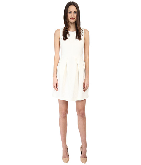 Armani Jeans - Jacquard Skater Dress (Ivory) Women's Dress
