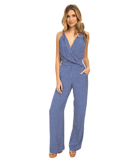 Armani Jeans - Printed Jumpsuit (Blue) Women's Jumpsuit & Rompers One Piece