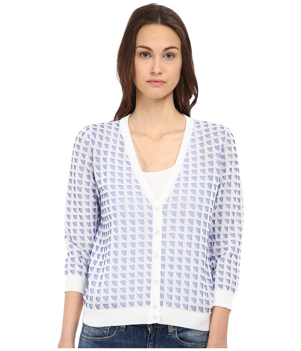 Armani Jeans - Jacquard Cardigan (White/Blue) Women