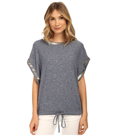 Armani Jeans - Beaded Linen Sweater (Blue Melange) Women's Sweater