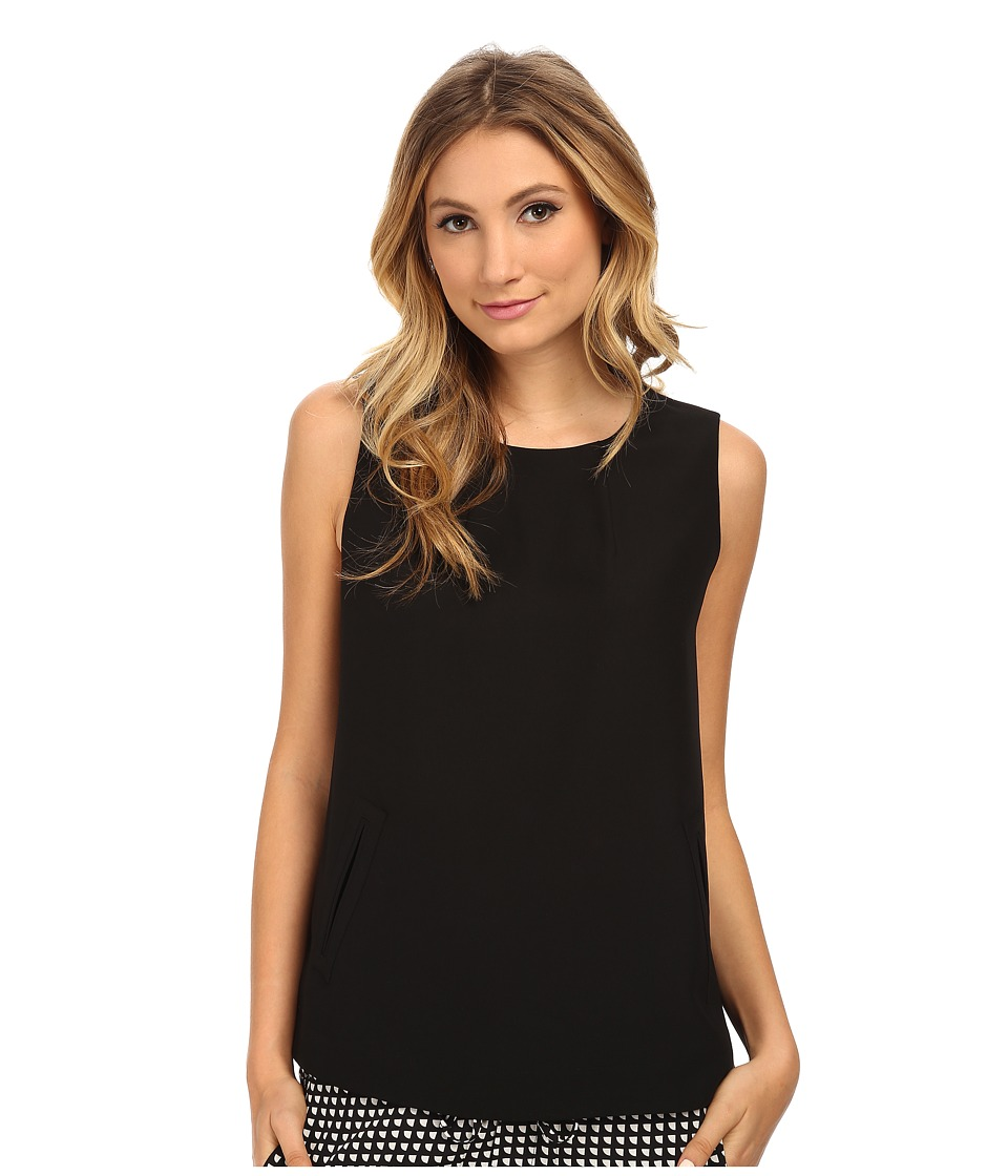 Armani Jeans - Sleeveless Pocket Blouse (Black) Women's Blouse