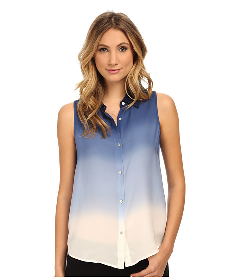 Armani Jeans - Ombre Collared Blouse (Blue) Women