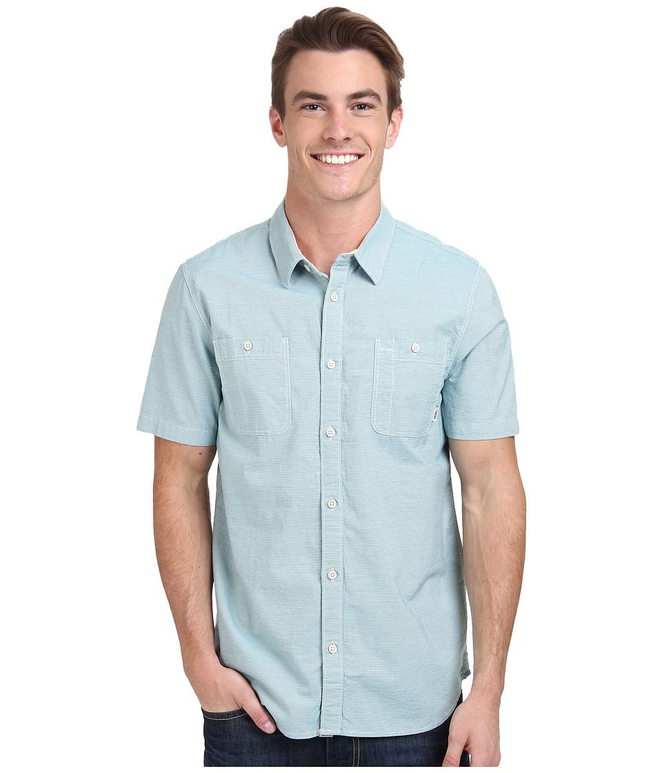 Vans - Guilder II Wovens (Lagoon) Men's Clothing