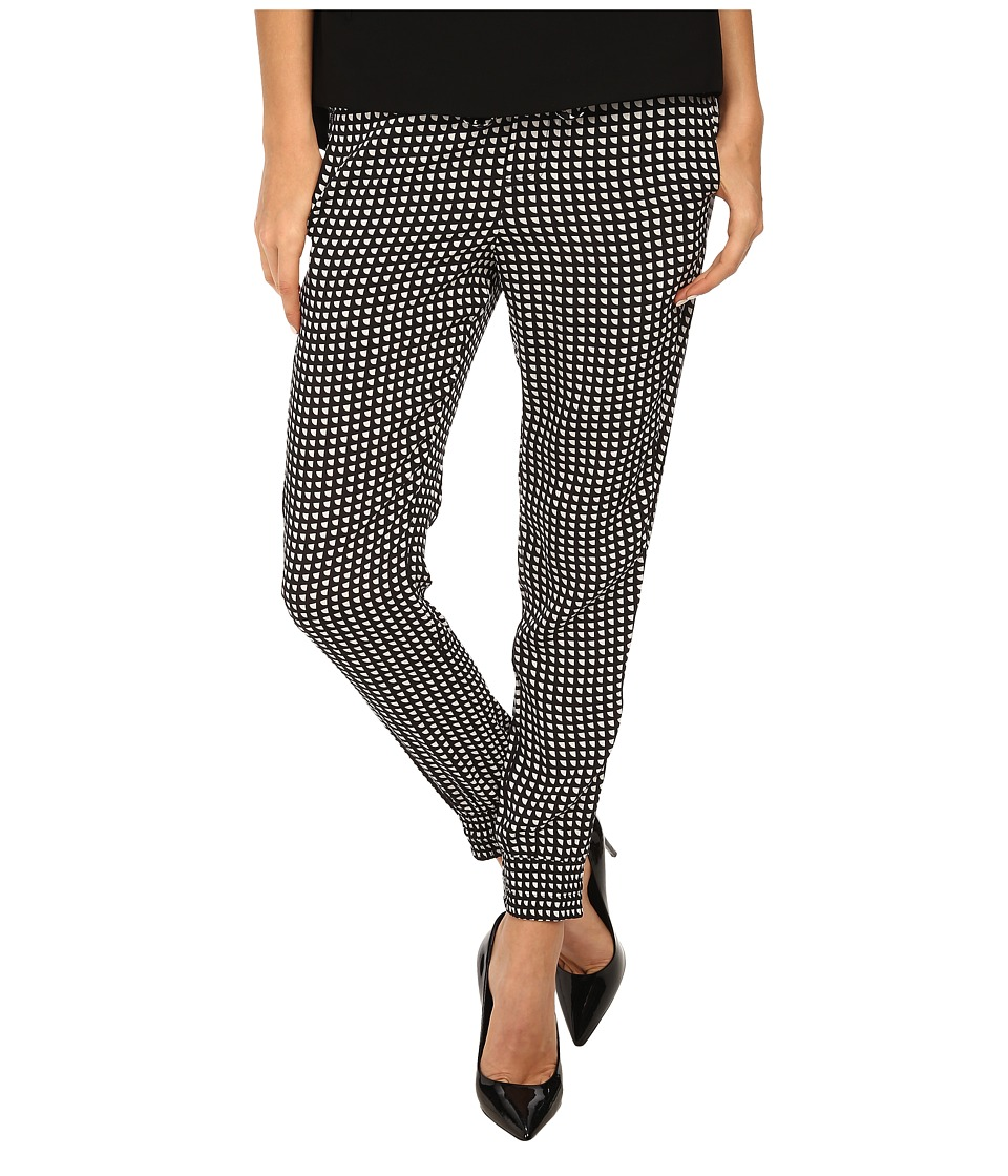 Image of Armani Jeans - Banded Bottom Print Pant (Black) Women's Casual Pants