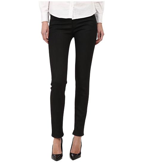 Armani Jeans - Low Rise Waxed Jean in Black (Black) Women's Jeans
