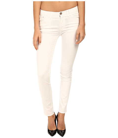 Armani Jeans - Slim Fit Cotton Satin Jean in White (White) Women