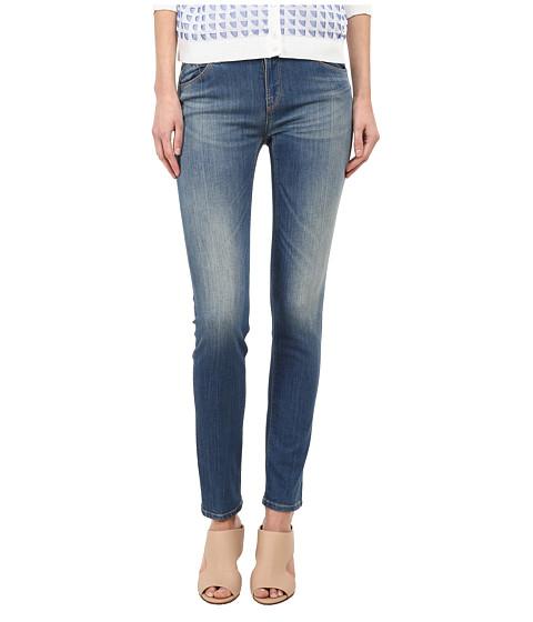 Armani Jeans - Vintage Wash Mid Rise Jean in Indigo (Indigo) Women's Jeans