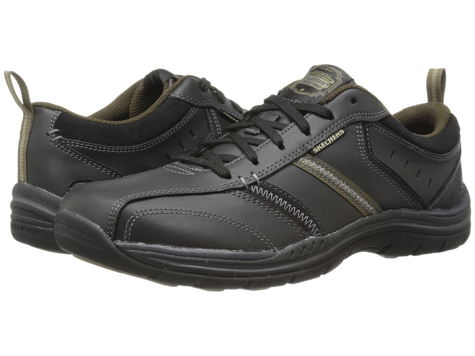 SKECHERS Expected Devention (Black/Tan) Men