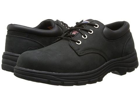 SKECHERS Work - Workshire Corpus (Black) Men's Industrial Shoes