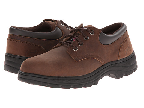 SKECHERS Work - Workshire Corpus (Chocolate Dark Brown) Men's Industrial Shoes