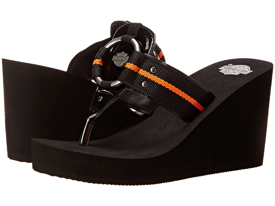 Harley-Davidson - Janet (Black) Women's Wedge Shoes