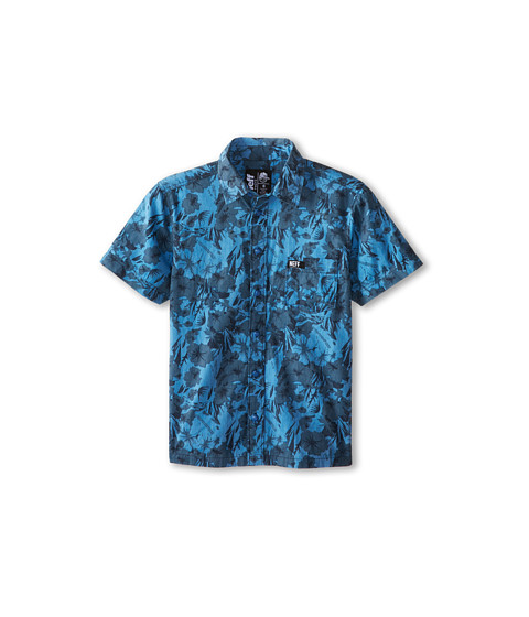 Neff Kids - Pandora Woven S/S (Big Kid) (Blue) Boy